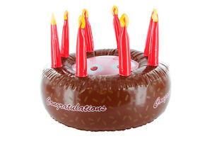 Spassfaktor Aufblasbare Geburtstagstorte Schoko Kuchen Zum Aufpusten