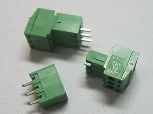 20-pcs-3pin-way-Pitch-3-5mm-Screw-Terminal-Block-Connector-Green-Pluggable-Type