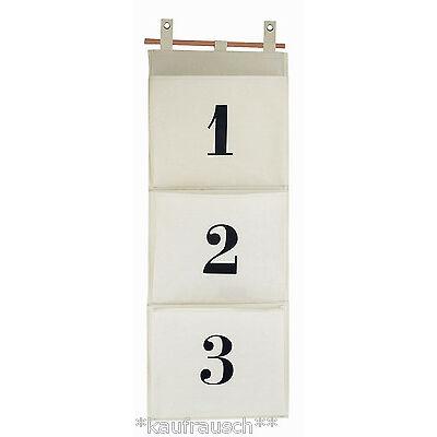 House Doctor Utensilo Hängeaufbewahrung 3 Taschen Organizer Nummer 1,2,3 Bad