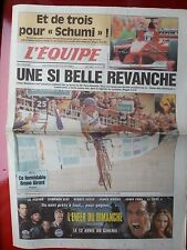 journal  l'équipe 10/04/2000 CYCLISME PARIS ROUBAIX 2000 MUSEEUW SCHUMACHER