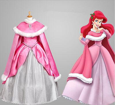 9874c9ec6ec82 Adult Womens Mermaid Princess Ariel Cosplay Costume Pink Fancy Only ...