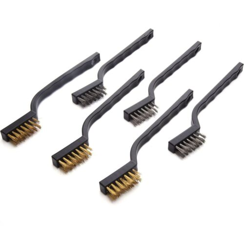 Eboot Mini Wire Brush Set For Cleaning Welding Slag And Rust 6 Pack Stainless