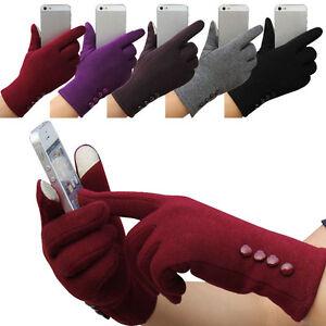 Fashion-Femmes-Gants-Hiver-En-Coton-Mitaines-Exterieur-Ecran-Tactile