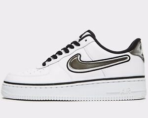 NIKE AIR FORCE 1 07 BLACK WHITE SUEDE SZ 10 | #205377263