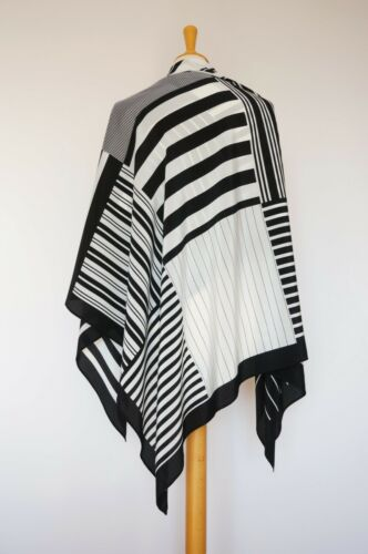 Weill Paris Black White 100% Silk Geometric Big Sc