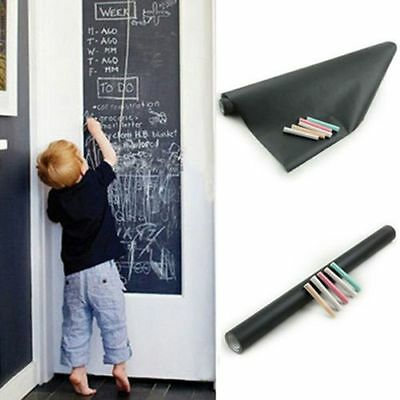 Chalkboard Wall Sticker Removable Blackboard Decals Creative  Wall Paper