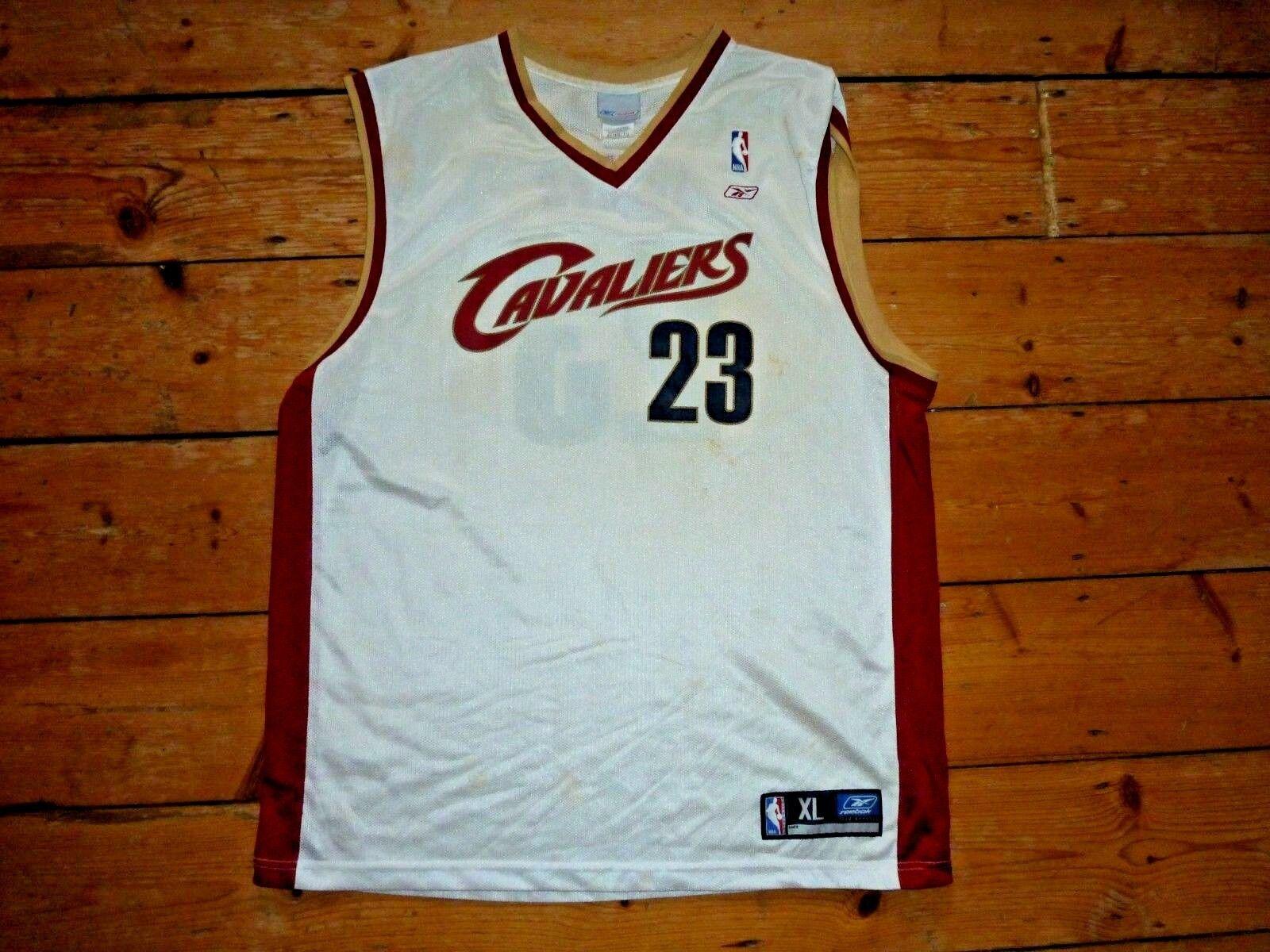 6ad2c9c6086 Size Original CAVALIERS JAMES BASKETBALL SHIRT reebok XL NBA ...