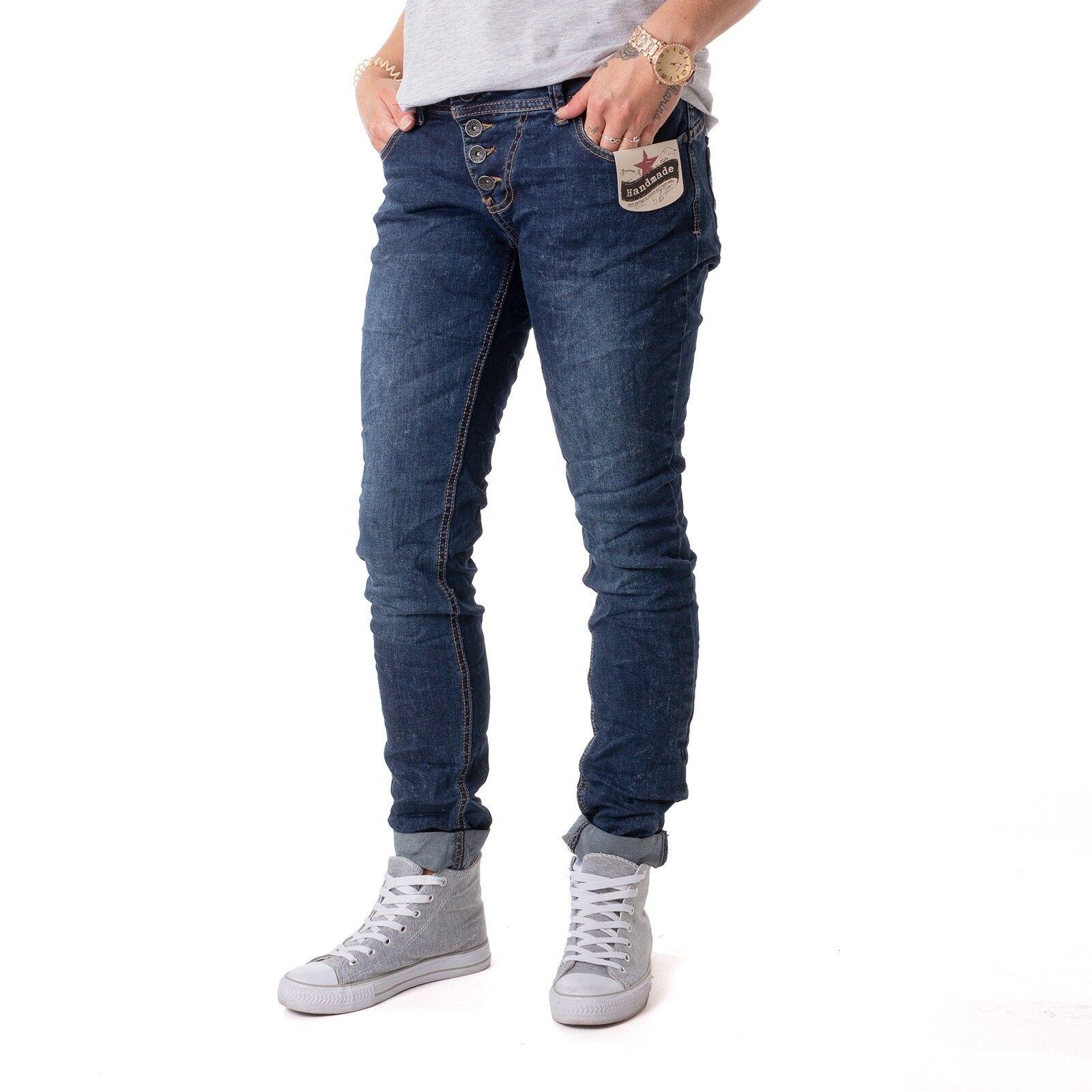 Buena Vista Malibu Stretch Denim Hose Damen Jeans dark Blau 15833