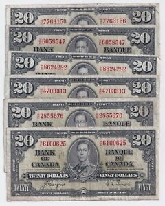 1937-20-Canada-Bank-Note-Prefix-H-E-Coyne-Towers-F-VF