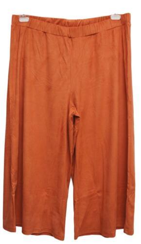 NEU Übergröße ausgefallener Damen Hosenrock Velourle in zimt Gr.48,54 Culotte