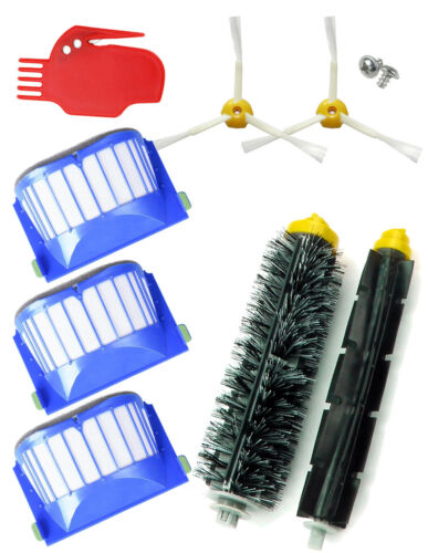KIT *SUPER* ROOMBA 695 1 pack rodillos 3 filtros limpiador.iRobot 2 cepillos