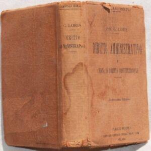 LORIS-DIRITTO-AMMINISTRATIVO-COSTITUZIONALE-LEGGI-1921-FORZE-ARMATE-BUON-COSTUME