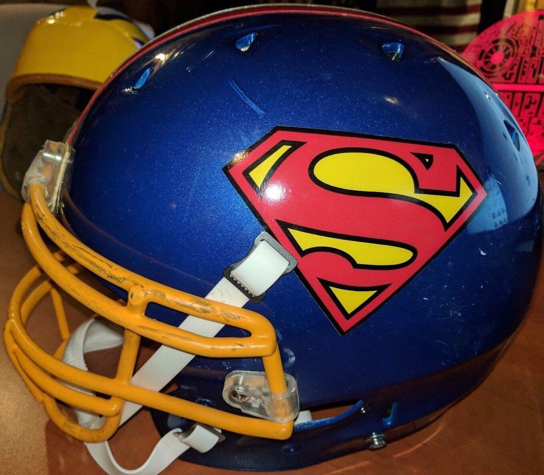 Superman DC Comics Men's Schutt DNA FOOTBALL HELMET(L)