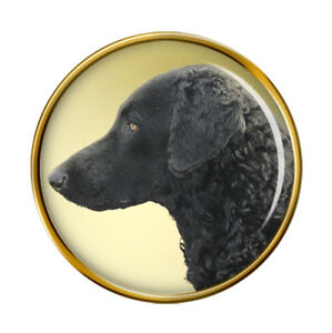 Boucle-Revetu-Retriever-Chien-Revers-Broche-Badge
