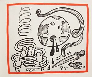 KEITH-HARING-AGAINST-ALL-ODDS-orig-LITHO-estate-authenticatd-rare-ed-500-mint