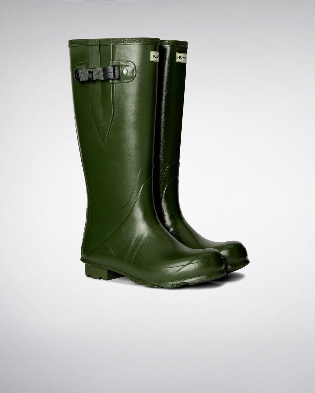Hunter Norris Field Neoprene Wellington side adjustable-Vintage Green MFT9044RNL