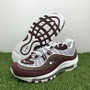 Details about Nike Air Max 98 Sneakers Wolf Grey/White/Plum (AH6799-005)  Women's Size 8