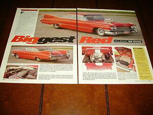 1959 CADILLAC SUPERCHARGED HOT ROD ***ORIGINAL 1997 ARTICLE***