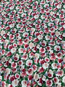Acolcha Artesanal confección Marrón Estampado Floral 100/% Tela De Algodón 115cm de ancho