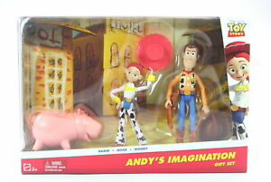 """TOY STORY 2 3 pack HAMM JESSIE WOODY 4"""" action figures Andy's Imagination - NEW!"""