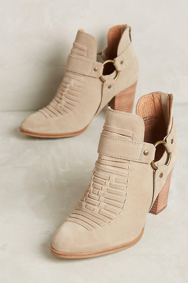 ANTHROPOLOGIE SHOES SEYCHELLES IMPOSSIBLE BOOTIES 8.5 HARNESS ANKLE BOOT