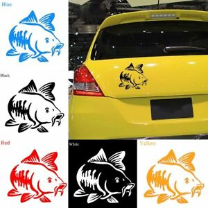 Funny-Carp-Fishing-Vinyl-Art-Sticker-Car-Auto-Truck-Decal