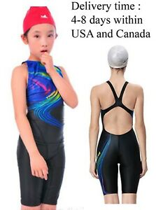 afcf59934dd9b Image is loading Kneeskin-Swimsuit-one-piece-swimsuit-girl-for-racing-