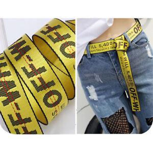 frais frais meilleurs tissus profiter du prix de liquidation Details about Off White Yellow Belt Nylon Vetements Gosha Rubchinskiy  130/150 CM