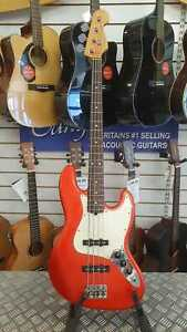 2001-Fender-American-Standard-Jazz-Bass-Candy-Apple-Red-Maple-Neck-inc-OHSC