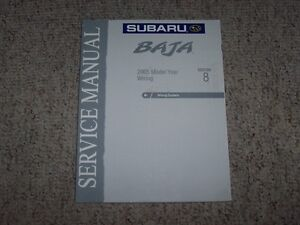 2005 Subaru Baja Wiring Diagrams System Shop Service Repair Manual on