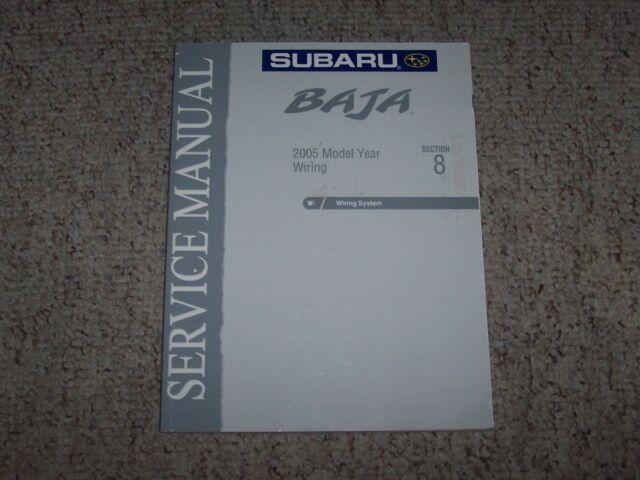 2005 Subaru Baja Electrical Wiring Diagrams Service Repair