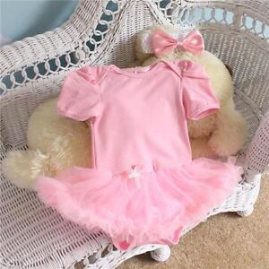 rosa-TUTU-STRAMPLER-Baby-Maedchen-suess-Geschenk-Babyparty-Neugeborenes-Prinzessin