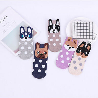 Womens Socks Small Ear Cartoon Animal Series Cute dog Harajuku Style Funny Gift