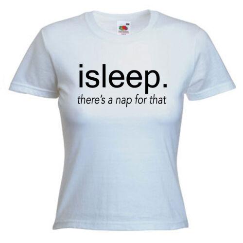 Sleep Lazy Funny Ladies Lady Fit T Shirt Size 6-16