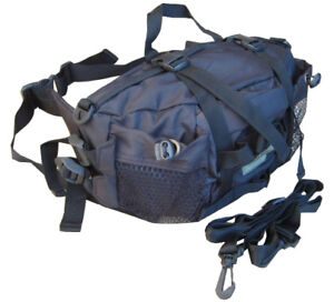 Army Military Combat Travel Utility Waist Bum Bag Money Belt Pack Black Surplus
