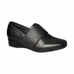 GROSBY-RILEY-BLACK-CLOSED-TOE-WOMENS-FLAT-WORK-CASUAL-SHOES-COMFORT-WEDGES-FLATS