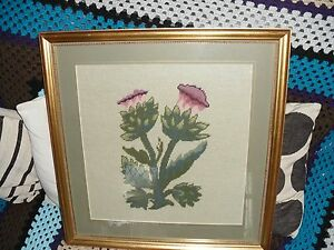 FRAMED-GLASS-PROTECTED-TAPESTRY-OF-FLOWERS-SIZE-54-X-56-CMS