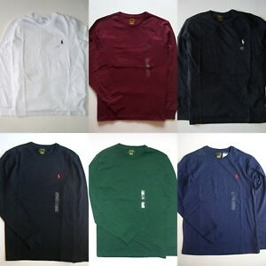 Details about Men Polo Ralph Lauren T Shirt LONG SLEEVE S M L XL XXL -  STANDARD FIT - NWT 3f9c264329c8
