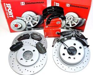 Bmw 3 3er E30 Zimmermann Sport Bremsen Kit Xxl Vorne Hinten Ebay