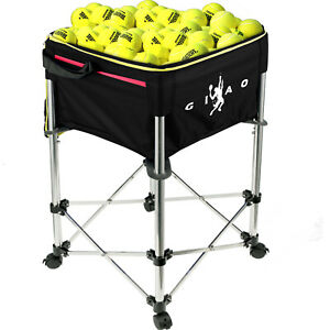Tennis-Ball-Cart-Trolleys-Basket-160-Balls-Capacity-with-Wheels-Portable