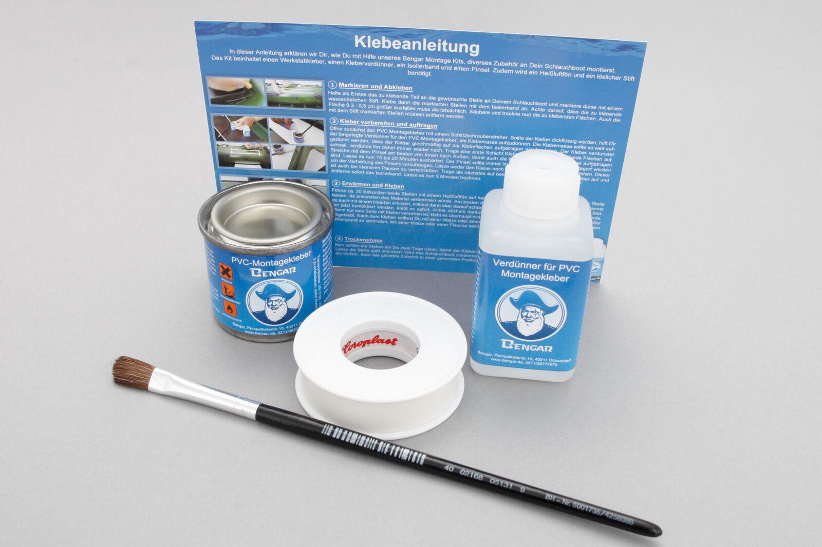 Set  Railblaza Cleatport Ribmount Halterung und Kleber-Kit (schwarz) 03-0015-11 03-0015-11 03-0015-11 3d695b