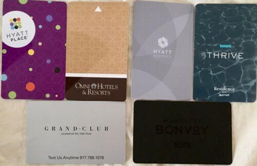 Hotel Card Key Grand Hyatt Regency Place Omni Marriott Residence Inn Bonvoy Club