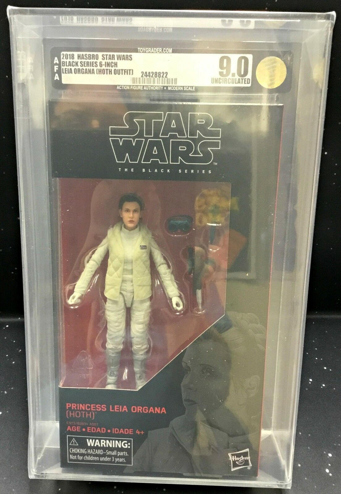 2018 Hasbro Star Wars The Black Series 6  Leia Organa (Hoth Outfit) AFA U9.0