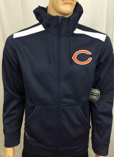 Men/'s Nike Chicago Bears NFL KO Full-Zip Hoodie NEW WITH TAGS 538431 459 RTL $85
