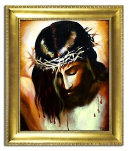 Religion-Jesus-Christ-Handmade-Oil-Painting-Picture-Oil-Frame-Pictures-G04227