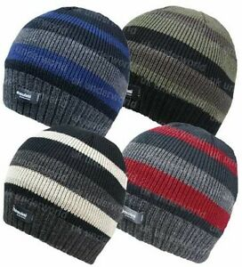 d45d3fa98ad Image is loading Adults-Mens-Knitted-Beanie-Hat-Thermal-Lined-Thinsulate-