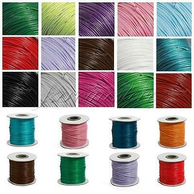 1/1.5mm 90M/98Yards Waxed Cotton Cords Wax Bead Jewelry String Beading 20 Color