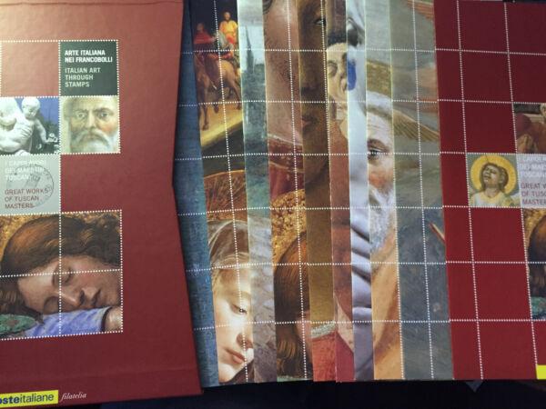 2002 Arte Italiana Maestri Toscani Collana Uffizi 10 + 1 Folder + Custodia Cu 48 Les Catalogues Seront EnvoyéS Sur Demande