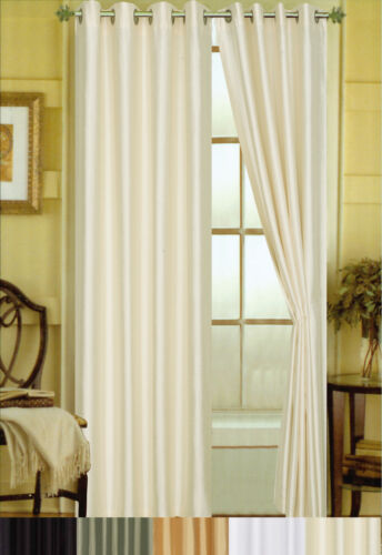 Elaine Faux Silk Grommeted Window Panel 84 x 58 2 Pack - 5 Colors