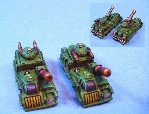 Battletech painted Danai Support Vehicles OD Unique